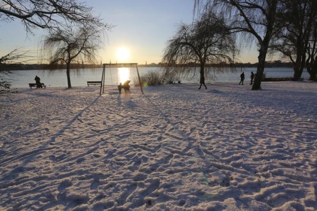 Alster und Schnee