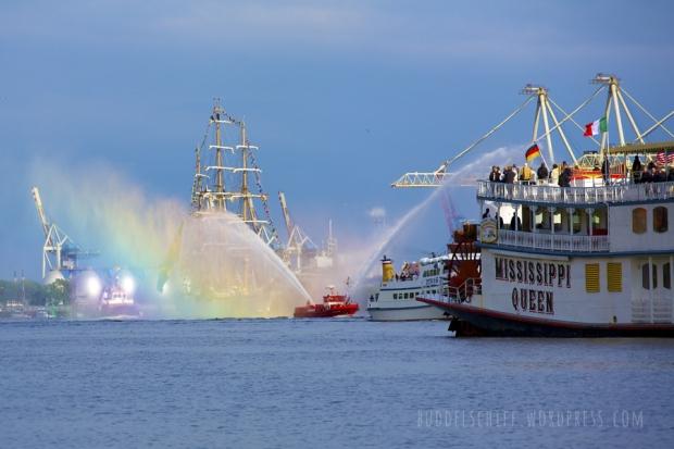 Hafengeburtstag 2013 Auslaufparade
